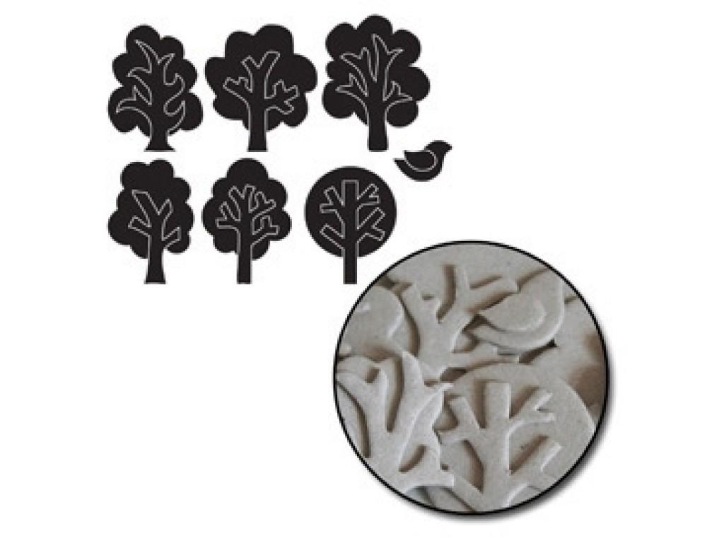 "Kartoninės formelės ""Trees Mini"", 28vnt."