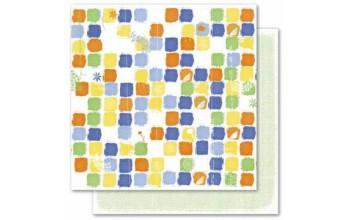 "Popierius ""Deja Views: Mango - Color Swatches / Green Dots"""