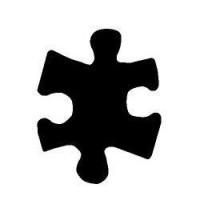 "Dek. skylamušis ""Puzzle 15x12mm"""