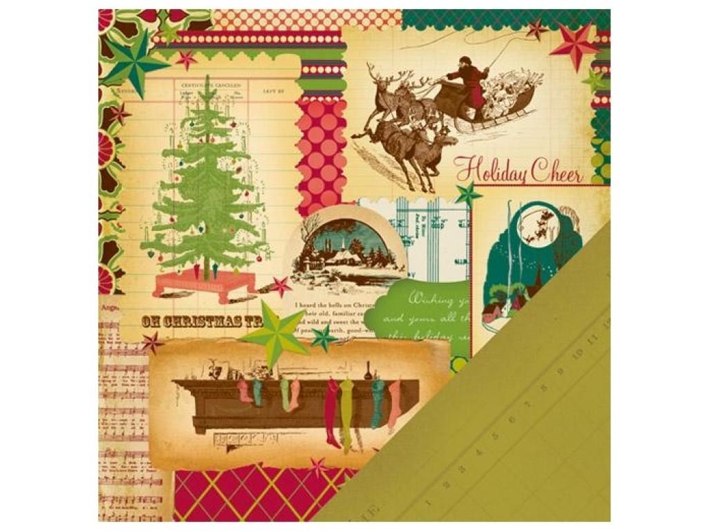 Noel Christmas.Popierius Making Memories Noel Christmas Collage