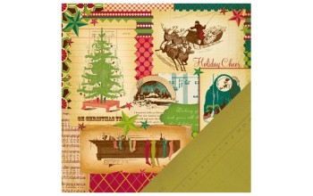 "Popierius ""Making Memories: Noel - Christmas Collage"""