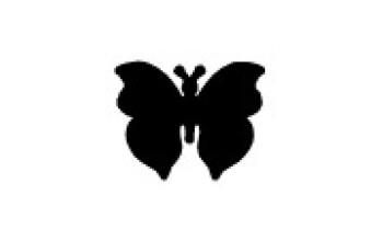"Dek. skylamušis ""Butterfly-4 25x20mm"""