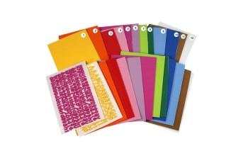 """Iškirstos crepla raidės ir skaičiai """"EVA Foam"""", įvairių spalvų, 2 lapai"""
